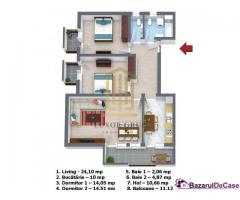 0% Comision |  Apartament 3 camere | Decomandat | Etaj 1 |
