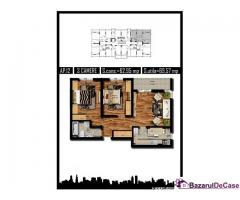 Apartament 3 camere, 70 mp, Parter, decom, Militari Auchan