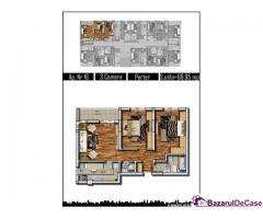 Apartament 3  camere, decom, 70MP, Parter, Militari Praktiker