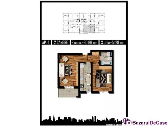 Apartament 2 camere, MILITARI REZERVELOR - 1/2