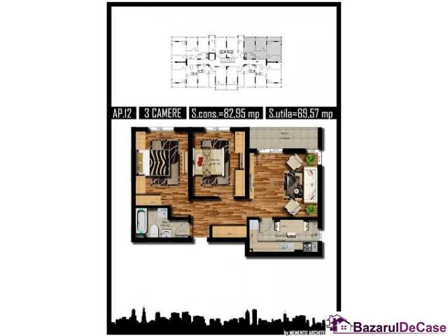 Apartament 3 camere, direct dezvoltator - 1/1