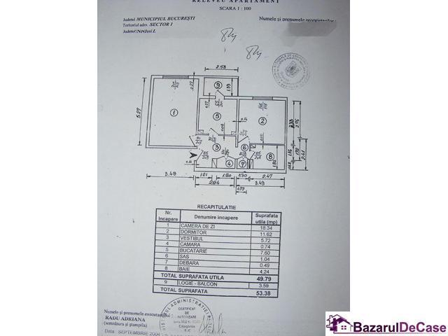 Apartament 2 camere  de vanzare Aviatiei Strada Avionului - 12/12