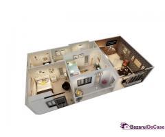 Apartament 3 camere - la Cheie - Rată fixă lunară - Dobândă 0%