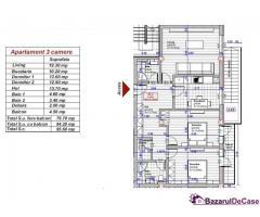 Apartament 3 camere, 2băi, balcon | în Turnişor |