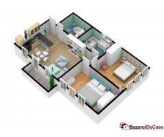 Apartament 3 camere + Terasă 48mp   zona Turnişor  